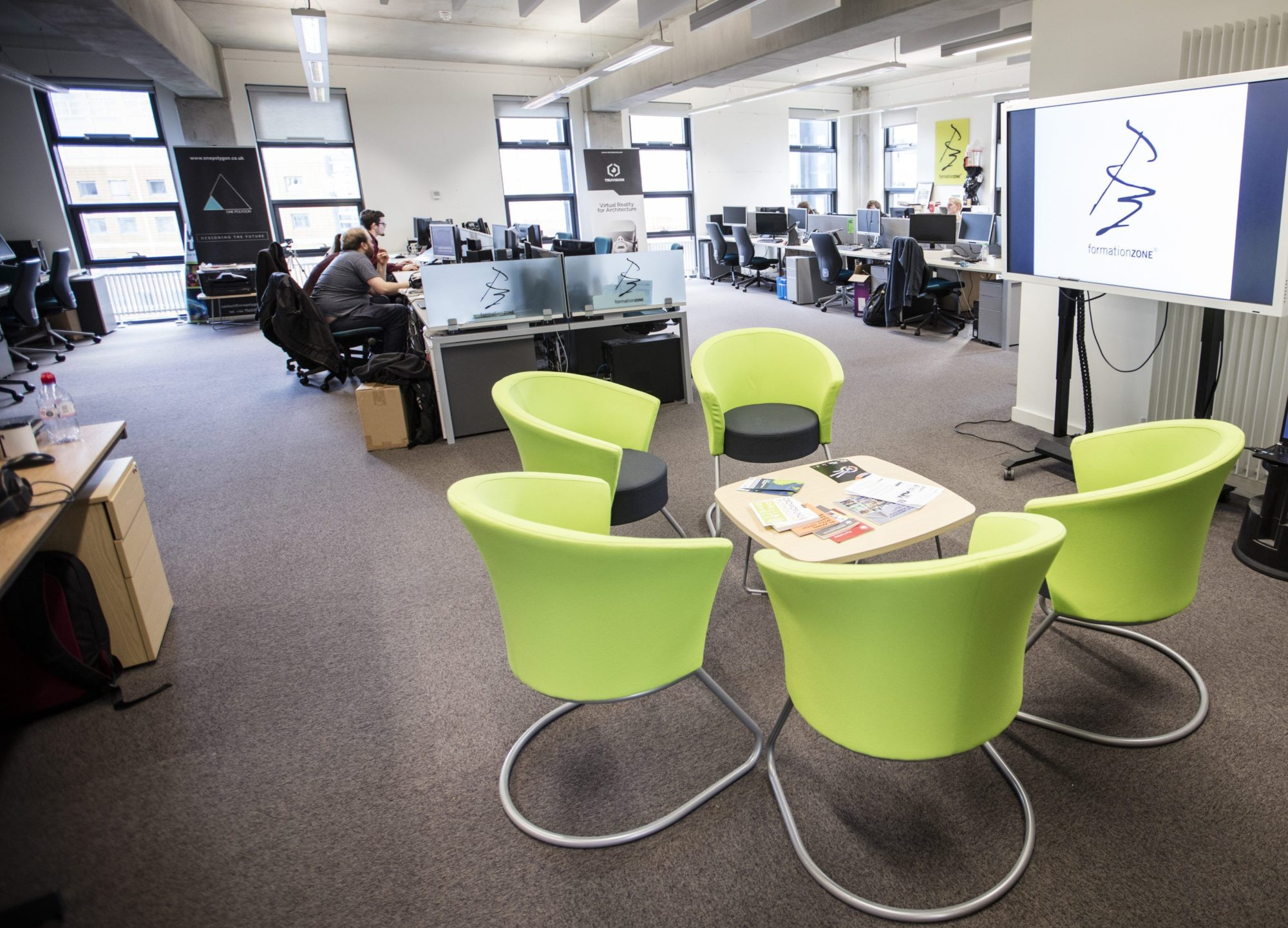 Formation Zone open plan office space with businesses at work