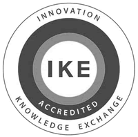 IKE logo grey scale