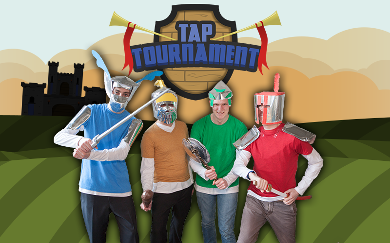 So Good Studios dressed as characters from their game Tap Tournament