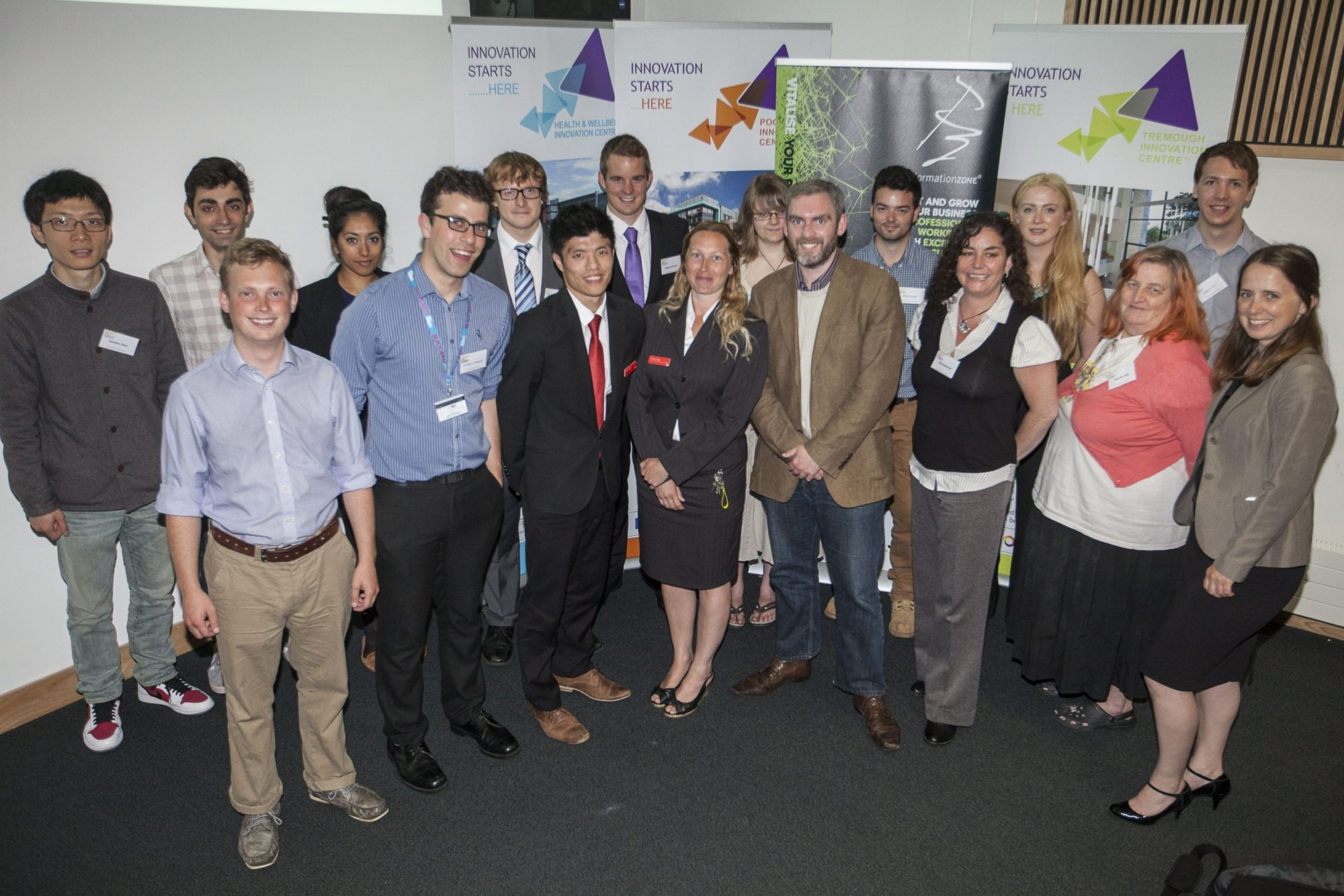 Formation Zone Business Challenge contestants at Reward Event