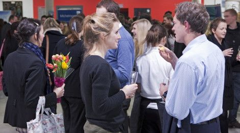 University networking event in Roland Levinsky Building