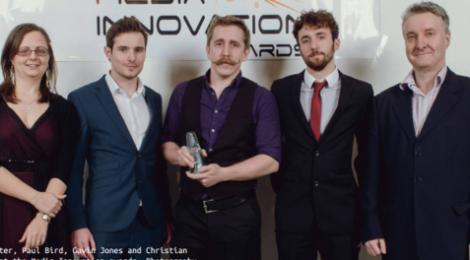 Elixel with their Media Innovation award