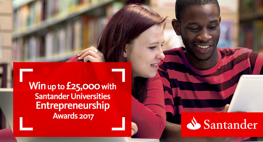 Students working on their Santander Universities Entrepreneurship Awards entry