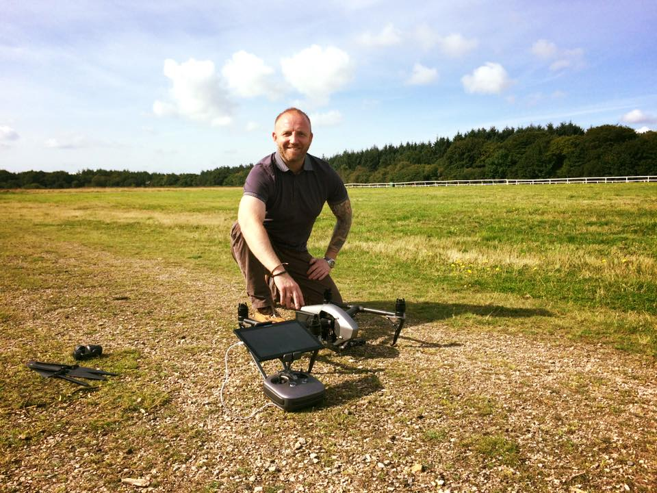 Jamie of Shield with a drone