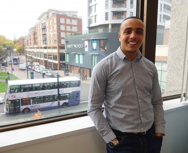 Fuel's Ross Collins at their new Bristol office