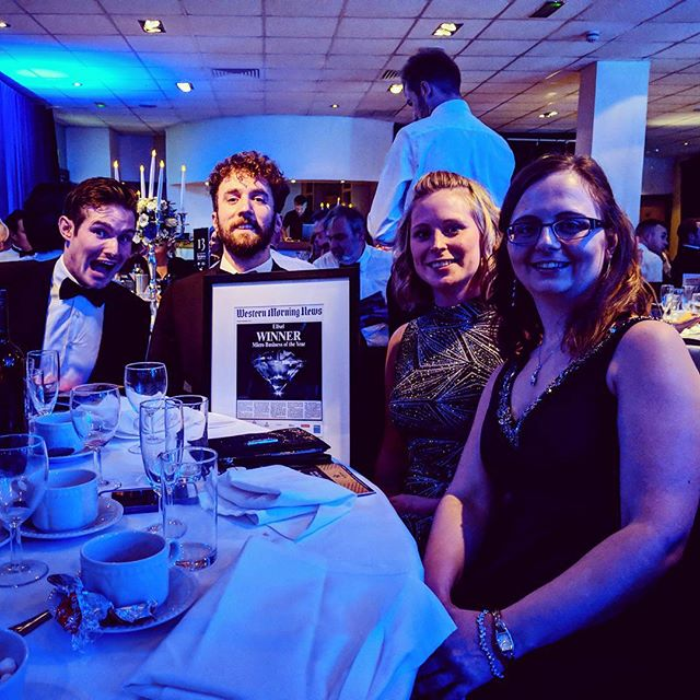 Elixel team with their award at Western Morning News Business Awards