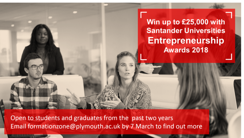Santander Universities Entrepreneurship Awards 2018 advert