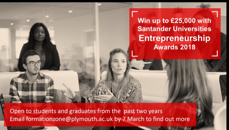 Santander Universities Entrepreneurship Awards 2018 advert
